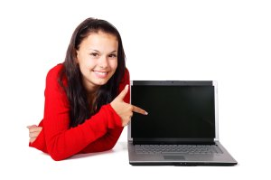 http://www.publicdomainpictures.net/view-image.php?image=4319&picture=woman-pointing-at-laptop&large=1