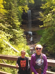 Munising Falls and Kids